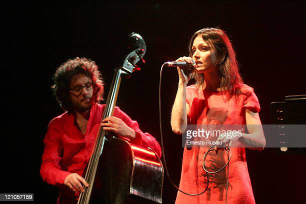 Petra Magoni and Ferruccio Spinetti during Petra Magoni and Ferruccio Spinetti in Concert - May 30, 2006 at Auditorium Parco della Musica in Rome,...