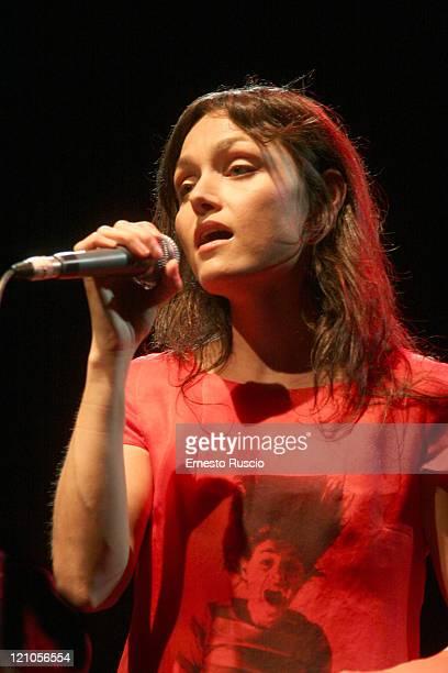 Petra Magoni during Petra Magoni and Ferruccio Spinetti in Concert - May 30, 2006 at Auditorium Parco della Musica in Rome, Italy.