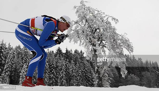 Petra Majdic of Slovenia competes during the 10km Classic Individual women's World Cup nordic skiing event fourth part of Tour de Ski 02 January 2008...