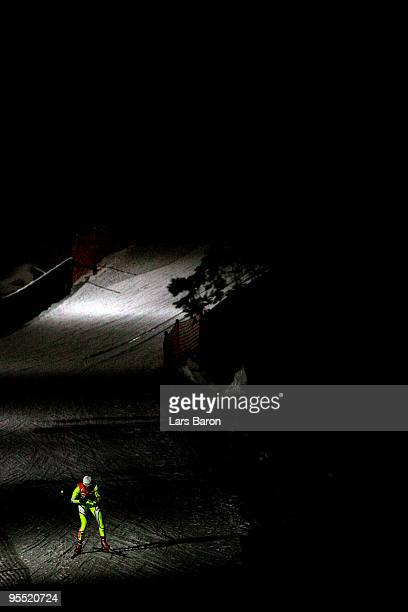 Petra Majdic of Slovenia competes during the Women's 25km Prologue of the FIS Tour De Ski at the DKB Arena on January 1 2010 in Oberhof Germany