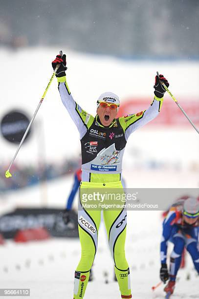 Petra Majdic of Slovenia during the mass women for the FIS Cross Country World Cup Tour de Ski on January 9 2010 in Val di Fiemme Italy