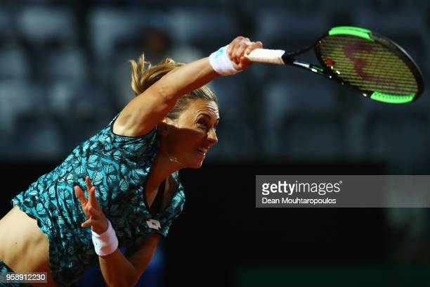 Petra Martic of Croatia serves in her match against Elina Svitolina of Ukraine during day 3 of the Internazionali BNL d'Italia 2018 tennis at Foro...