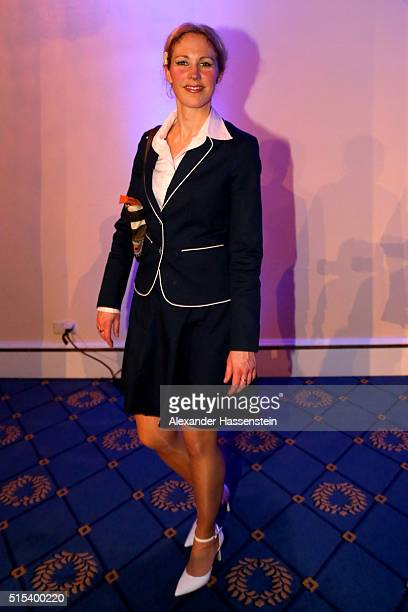 Petra Meuthen wife of Joerg Meuthen top candidate of Alternative fuer Deutschland attends the AfD Election Party at Alte Reithalle Hotel Maritim on...