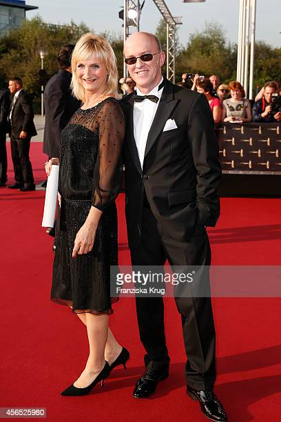 Petra Nadolny and Peter Nottmeier attend the red carpet of the Deutscher Fernsehpreis 2014 on October 02 2014 in Cologne Germany