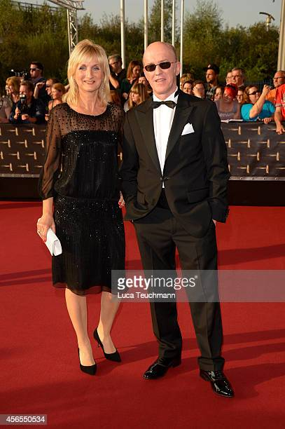 Petra Nadolny and Peter Nottmeier attend the red carpet of the Deutscher Fernsehpreis 2014 at Coloneum on October 2 2014 in Cologne Germany