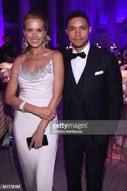 Petra Nemcová and Trevor Noah attend Rihanna's 3rd Annual Diamond Ball Benefitting The Clara Lionel Foundation at Cipriani Wall Street on September...