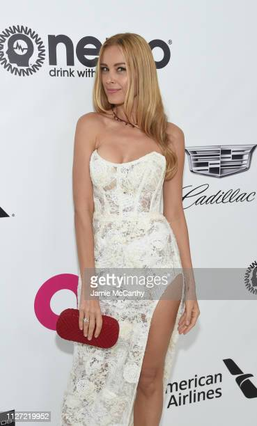Petra Nemcová attends the 27th annual Elton John AIDS Foundation Academy Awards Viewing Party sponsored by IMDb and Neuro Drinks celebrating EJAF and...