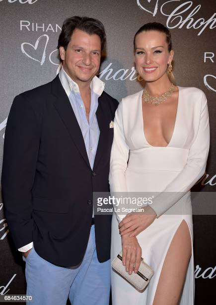 Petra Nemcova and Alejandro Grimaldi attend the Chopard dinner in honour of Rihanna and the Rihanna X Chopard Collection during the 70th annual...