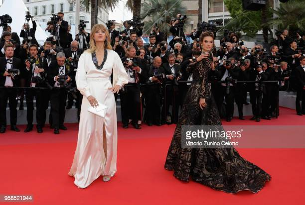 Petra Nemcova and Alessandra Ambrosio attend the screening of 'BlacKkKlansman' during the 71st annual Cannes Film Festival at Palais des Festivals on...