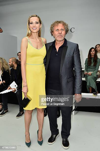 Petra Nemcova and Alessandro Bogliolo attend the Viktor Rolf show as part of Paris Fashion Week Haute Couture Fall/Winter 2015/2016 on July 8 2015 in...