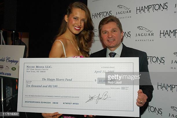 Petra Nemcova and Gary Flom President and CEO of Manhattan Automobile Company