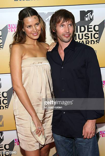 Petra Nemcova and James Blunt during 2006 MTV Video Music Awards Arrivals at Radio City Music Hall in New York City New York United States