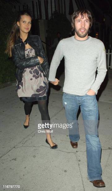 Petra Nemcova and James Blunt during Celebrity Sightings at Koi February 13 2007 at Koi in West Hollywood California United States