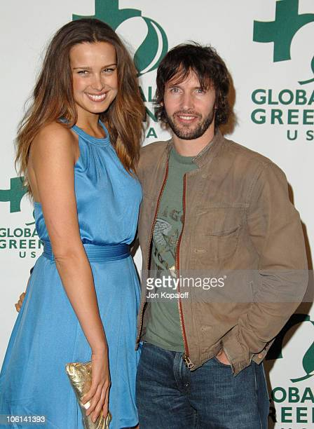 Petra Nemcova and James Blunt during Global Green USA 2007 PreOscar Celebration to Benefit Global Warming Arrivals at The Avalon in Hollywood...