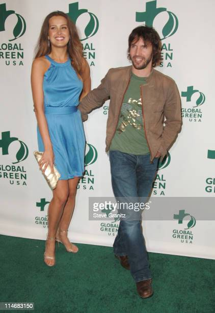 Petra Nemcova and James Blunt during Global Green USA 3rd Annual PreOscar Celebration to Benefit Global Warming Arrivals at Avalon in Hollywood...