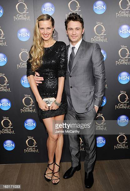 Petra Nemcova and James Franco attend the Oz The Great And Powerful VIP screening at the Crosby Street Hotel on March 5 2013 in New York City