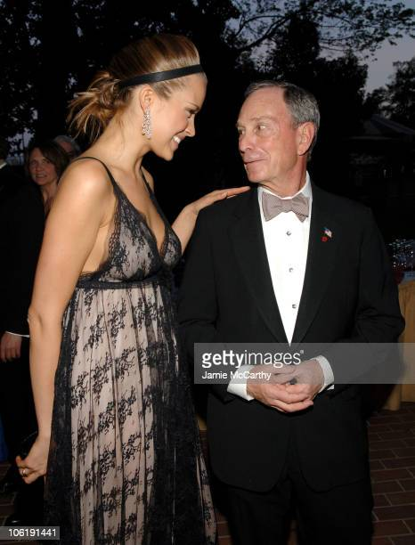 Petra Nemcova and Mayor Michael Bloomberg during 2007 White House Correspondents Dinner Bloomberg News Cocktail Party at Washington Hilton in...