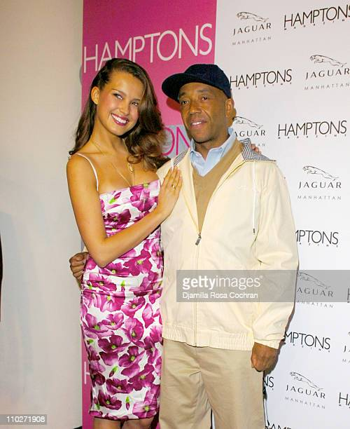 Petra Nemcova and Russell Simmons during Hamptons Magazine Celebrates the Premiere of its Spring Issue with Cover Girl Petra Nemcova and Launch of...