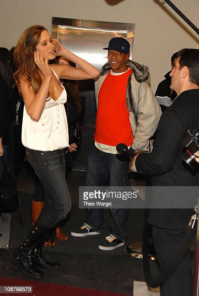Petra Nemcova and Russell Simmons during Kenneth Cole's R.S.V.P to HELP Hosted by Jon Bon Jovi and Kenneth Cole - Arrivals at Soho Grand and Tribeca...