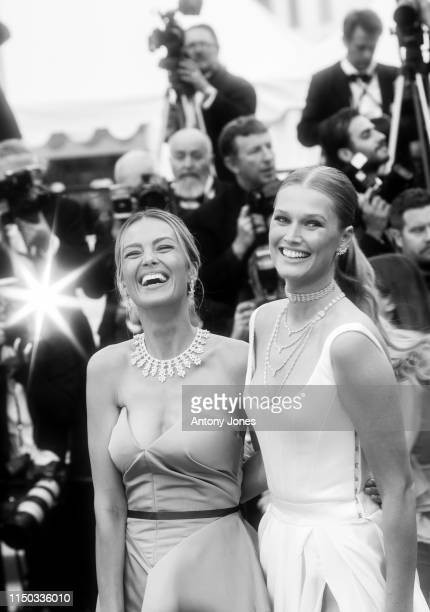 Petra Nemcova and Toni Garrn attend the screening of A Hidden Life during the 72nd annual Cannes Film Festival on May 19 2019 in Cannes France