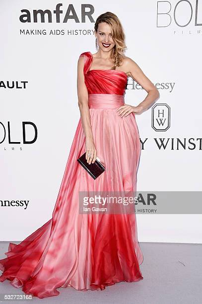 Petra Nemcova arrives at amfAR's 23rd Cinema Against AIDS Gala at Hotel du CapEdenRoc on May 19 2016 in Cap d'Antibes France