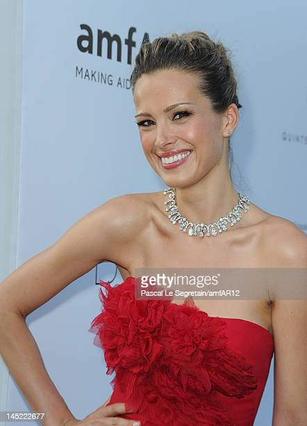 Petra Nemcova arrives at the 2012 amfAR's Cinema Against AIDS during the 65th Annual Cannes Film Festival at Hotel Du Cap on May 24 2012 in Cap...