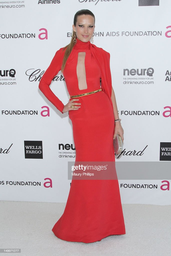 Petra Nemcova arrives at the 20th Annual Elton John AIDS Foundation Academy Awards Viewing Party at Pacific Design Center on February 26, 2012 in West Hollywood, California.