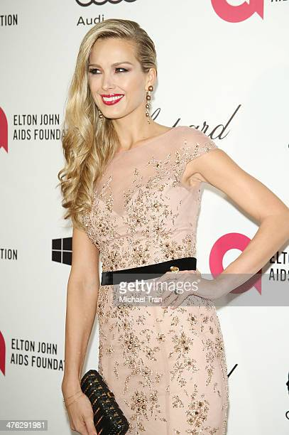 Petra Nemcova arrives at the 22nd Annual Elton John AIDS Foundation's Oscar viewing party held on March 2 2014 in West Hollywood California