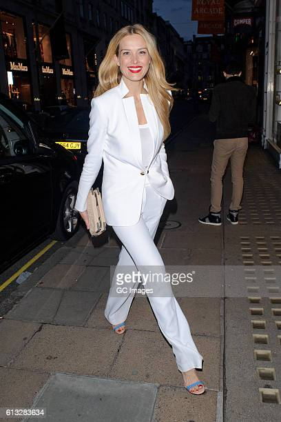 Petra Nemcova arrives at the Moncler 'Freeze For Frieze' Dinner Party at the Moncler Bond Street Boutique on October 7 2016 in London England
