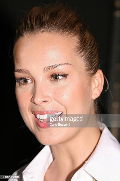 Petra Nemcova at the Ann Taylor and Ann Taylor LOFT Spring 2008 show on October 22 2007 in the Celeste Bartos Forum at the New York City public...