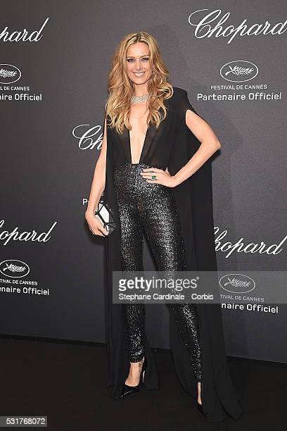 Petra Nemcova attends Chopard party red carpet the 69th annual Cannes Film Festival at on May 16 2016 in Cannes France