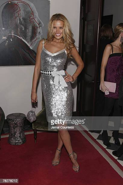 Petra Nemcova attends Dolce Gabbana's The One Fragrance Launch and Private Dinner at The Grammercy Park Hotel on December 4 2007 in New York City