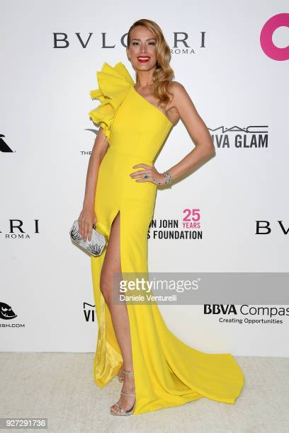 Petra Nemcova attends Elton John AIDS Foundation 26th Annual Academy Awards Viewing Party at The City of West Hollywood Park on March 4 2018 in Los...