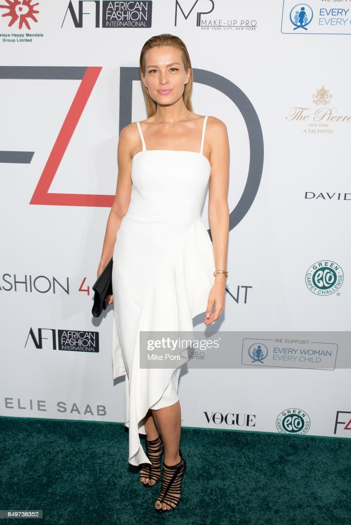 Petra Nemcova attends Fashion 4 Development's 7th Annual First Ladies Luncheon at The Pierre Hotel on September 19, 2017 in New York City.