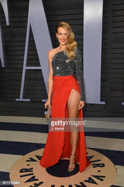 Petra Nemcova attends the 2018 Vanity Fair Oscar Party hosted by Radhika Jones at the Wallis Annenberg Center for the Performing Arts on March 4 2018...