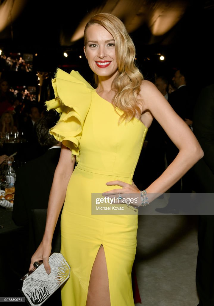 Petra Nemcova attends the 26th annual Elton John AIDS Foundation Academy Awards Viewing Party sponsored by Bulgari, celebrating EJAF and the 90th Academy Awards at The City of West Hollywood Park on March 4, 2018 in West Hollywood, California.
