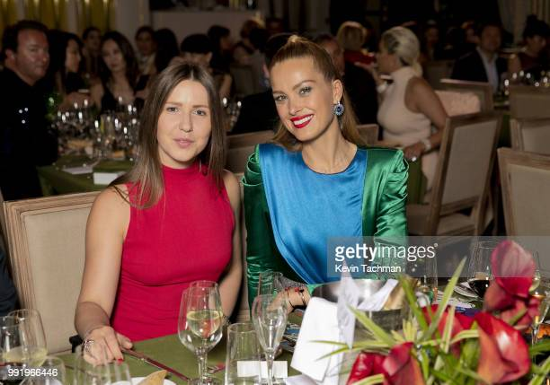 Petra Nemcova attends the amfAR Paris Dinner at The Peninsula Hotel on July 4 2018 in Paris France