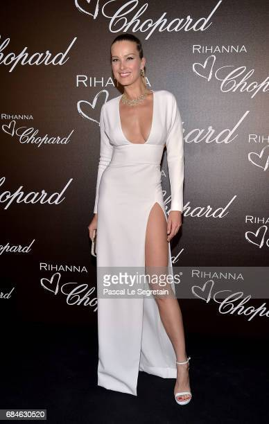 Petra Nemcova attends the Chopard dinner in honour of Rihanna and the Rihanna X Chopard Collection during the 70th annual Cannes Film Festival on the...