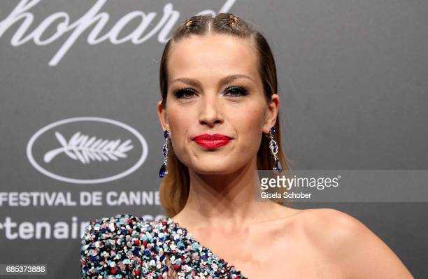 """Petra Nemcova attends the Chopard """"SPACE Party"""" hosted by Chopard's copresident Caroline Scheufele and Rihanna at Port Canto on May 19 in Cannes..."""