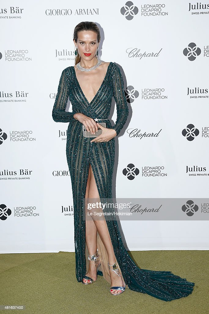 Petra Nemcova attends the Cocktail reception during The Leonardo DiCaprio Foundation 2nd Annual Saint-Tropez Gala at Domaine Bertaud Belieu on July 22, 2015 in Saint-Tropez, France.