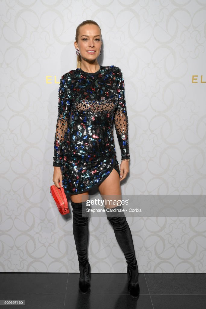 Petra Nemcova attends the Elie Saab Haute Couture Spring Summer 2018 show as part of Paris Fashion Week January 24, 2018 in Paris, France.