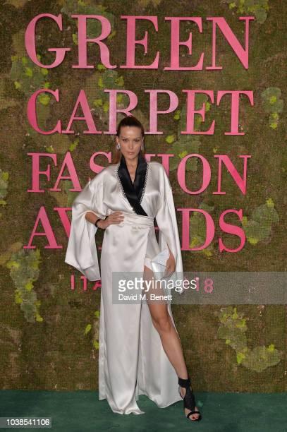 Petra Nemcova attends The Green Carpet Fashion Awards Italia 2018 at Teatro Alla Scala on September 23 2018 in Milan Italy