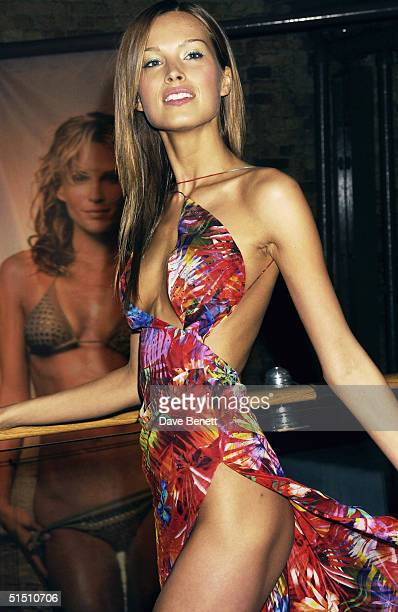 Petra Nemcova attends the launch of the European Issue of 'Sports Illustrated' magazine at The Collection on May 14 2003 in London Photo by Dave...