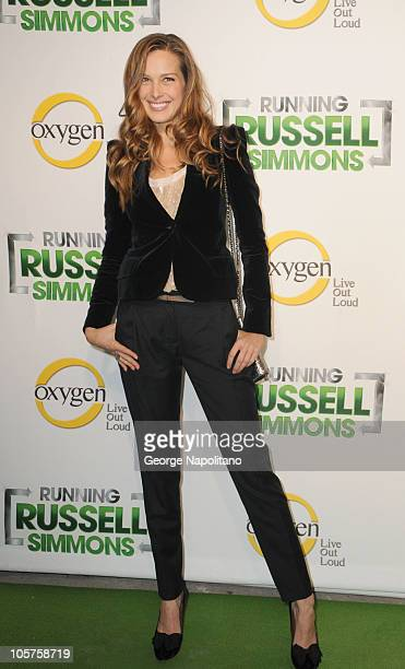 Petra Nemcova attends the launch party of Oxygen's new series Running Russell Simmons at Lavo on October 19 2010 in New York City