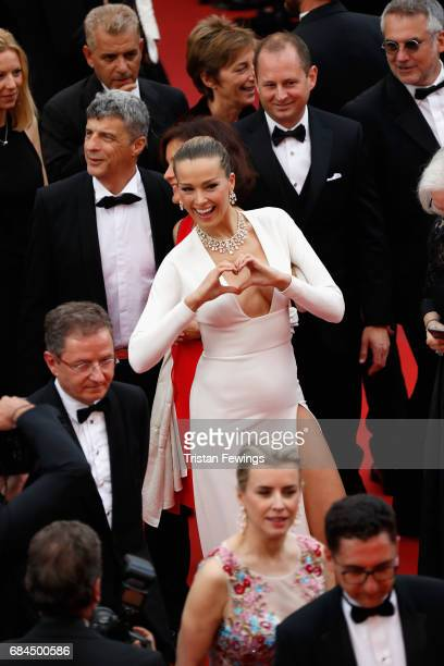 Petra Nemcova attends the 'Loveless ' screening during the 70th annual Cannes Film Festival at Palais des Festivals on May 18 2017 in Cannes France