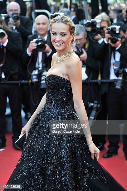 Petra Nemcova attends the 'Two Days One Night' premiere during the 67th Annual Cannes Film Festival on May 20 2014 in Cannes France