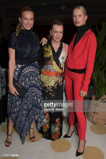 Petra Nemcova Caroline Scheufele and Karolina Kurkova attend the MAISONDEMODECOM Sustainable Style Gala at The Sunset Tower on February 23 2019 in...