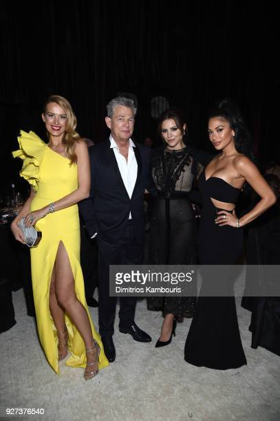 Petra Nemcova David Foster Katharine McPhee and Nicole Scherzinger attend the 26th annual Elton John AIDS Foundation Academy Awards Viewing Party...