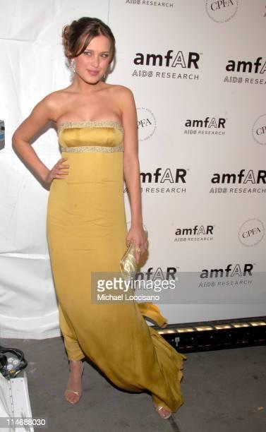 Petra Nemcova during AmfAR New York City Gala Honoring John Demsey Whoopi Goldberg and Bill Roedy Inside at Cipriani's 42nd Street in New York City...