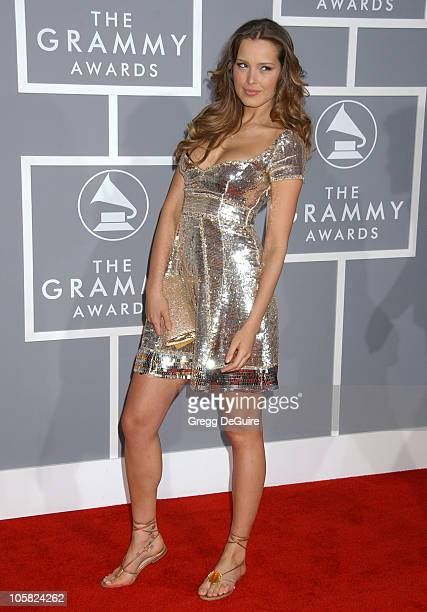 Petra Nemcova during The 49th Annual GRAMMY Awards Arrivals at Staples Center in Los Angeles California United States